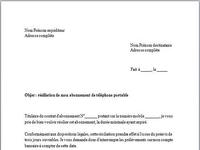 Modèle de Lettre de résiliation abonnement mobile