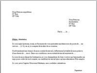Modèle de lettre de démission