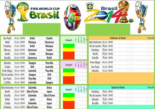 T l charger calendrier coupe du monde br sil 2014 gratuit le logiciel gratuit - Resultat coupe du monde foot 2014 ...
