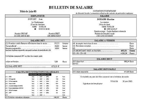 Modele Fiche De Paie Vierge Algerie Document Online