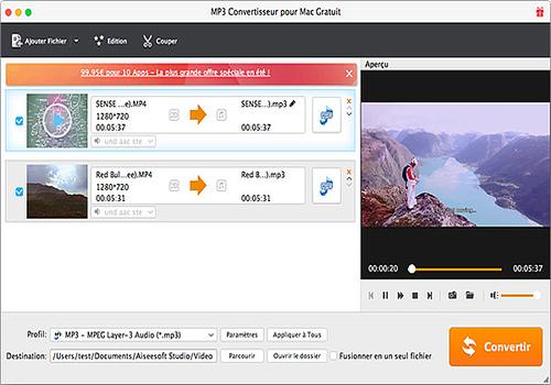AnyMP4 MOV Convertisseur Pour Mac est capable de convertir toutes les vidéos et vidéos HD générales en MOV sur Mac, et éditer la vidéo avec des fonctions multiples d'édition.