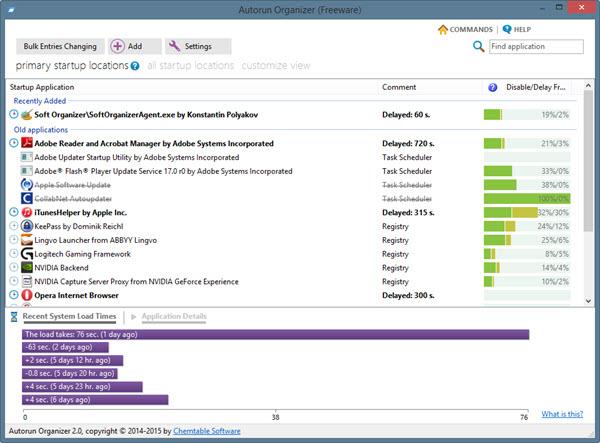 Les meilleurs logiciels gratuits d'optimisation PC Autorun%20Organizer-screen