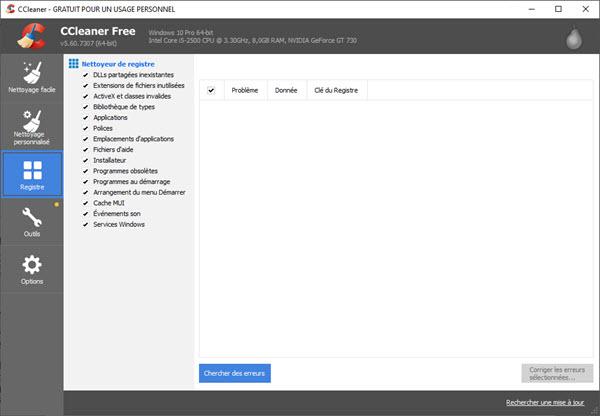 Les meilleurs logiciels gratuits d'optimisation PC CCleaner