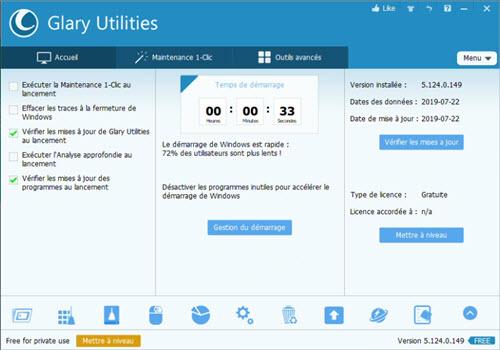 Les meilleurs logiciels gratuits d'optimisation PC Glary%20Utilities-screen