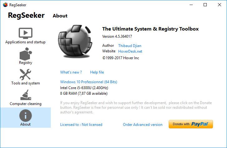 Les meilleurs logiciels gratuits d'optimisation PC RegSeeker-screen
