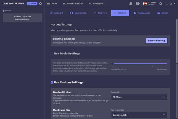 Enable hosting parsec